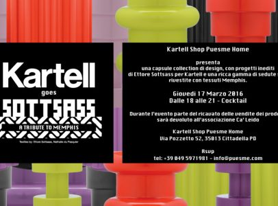 KARTELL GOES SOTTSASS BY PUESMEHOME